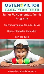 AlbertaTennis Centre Aug&Sep 2019